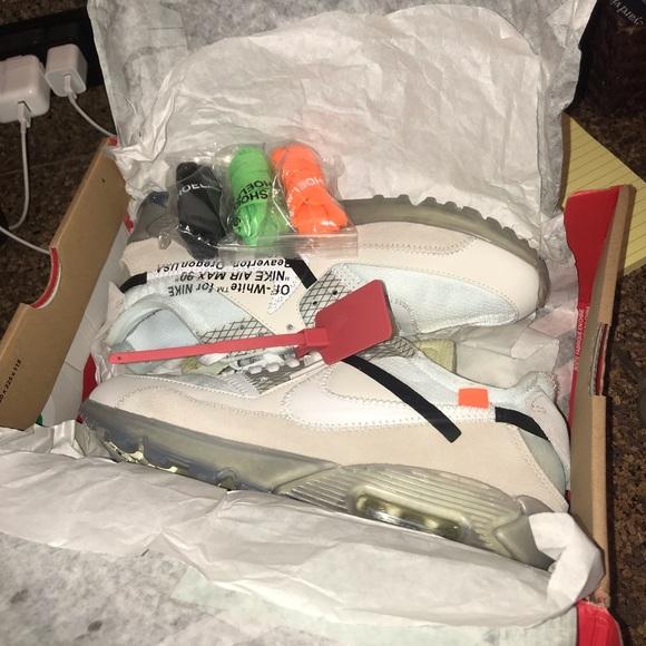 Off White Shoes Off White Nike Air Max 90 Poshmark
